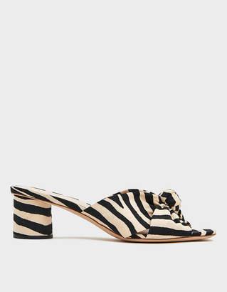 Loeffler Randall Celeste Mid Knot Heel in Zebra