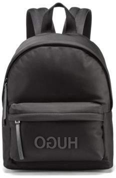 HUGO Boss Gabardine backpack tonal reverse logo One Size Black