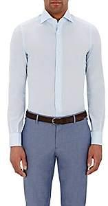 Isaia Men's Button-Front Shirt-Blue