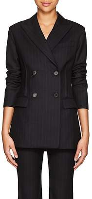 Nili Lotan Women's Leander Pinstriped Wool Double-Breasted Blazer