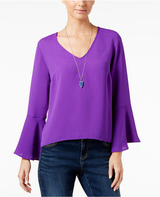INC International Concepts Bell-Sleeve Top, Only at Macy's $69.50 thestylecure.com