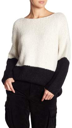 Alice + Olivia Marty Colorblock Alpaca & Silk Cozy Sweater