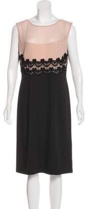 Philosophy di Alberta Ferretti Lace-Trimmed Midi Dress w/ Tags