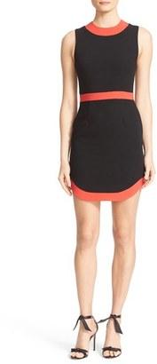 Women's Alice + Olivia Kathleen Curved Hem Sheath Dress $295 thestylecure.com