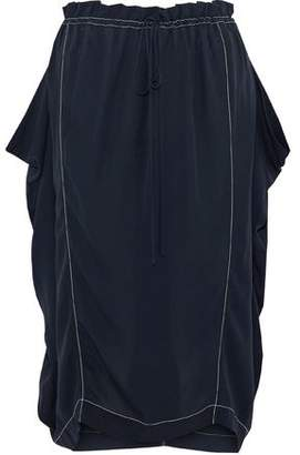 Stella McCartney Gathered Silk-Crepe Midi Skirt