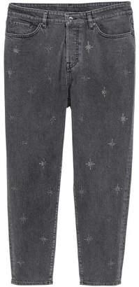 H&M H&M+ Vintage High Ankle Jeans - Black