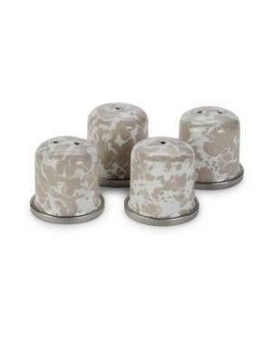 Golden Rabbit Four-Piece Salt & Pepper Shaker Set