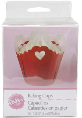Wilton Standard Baking Cup Liner, Eyelet with Hearts 15 ct. 415-1488