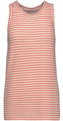 Current/Elliott The Muscle Striped Cotton And Modal-Blend Tank
