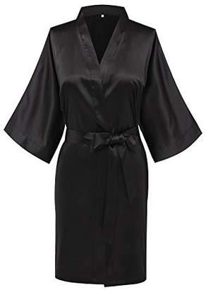 c45fa415b1 Joy Bridalc Women s Satin Short Kimono Bridemaid Robe Bathrobe for Wedding  Party