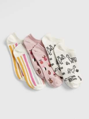 Gap Kids Llama No-Show Socks (3-Pack)