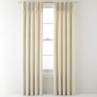 Royal Velvet Colebrook Pinch-Pleat Damask Curtain Panel