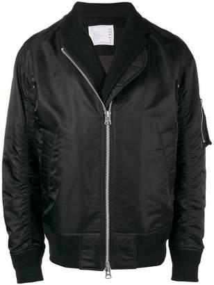 Sacai overlock-lined bomber jacket