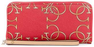 GUESS Kamryn Monogram Zip-Around Wallet