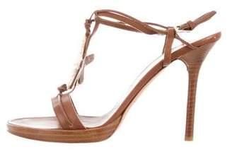Valentino Embellished T-Strap Sandals