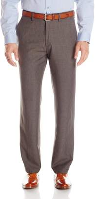 Haggar Men's Performance Heather Check Tailored Fit Plain Front Suit Separate Pant