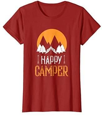 Camper Vintage Retro Tribal Happy Hiking Trendy T-Shirt