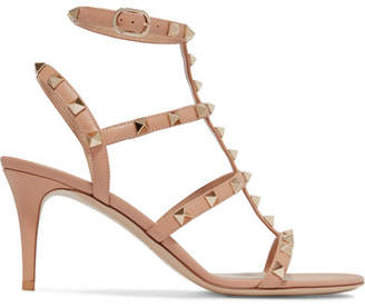 Valentino - Rockstud Leather Sandals $995 thestylecure.com