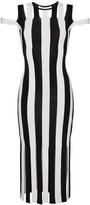 Christopher Kane knit bodycon stripe dress