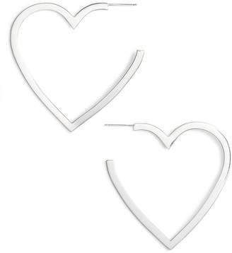 Jennifer Zeuner Jewelry Larissa Medium Open Heart Earrings