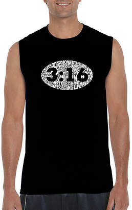 LOS ANGELES POP ART Los Angeles Pop Art Sleeveless Crew Neck T-Shirt-Big and Tall