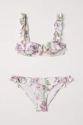 H&M Bikini with Flounces - White