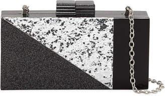 Neiman Marcus Geometric Confetti-Resin Minaudiere Bag
