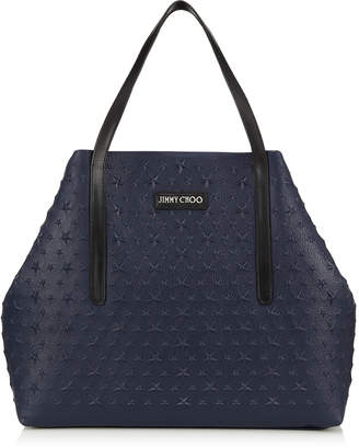 Jimmy Choo PIMLICO Ink Star Embossed Grainy Leather Tote Bag