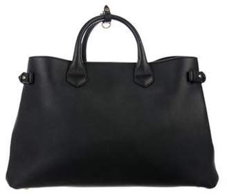 Burberry Banner Leather Tote Black Banner Leather Tote
