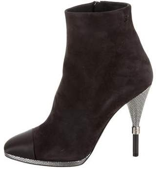 Chanel 2016 Cap-Toe Ankle Boots