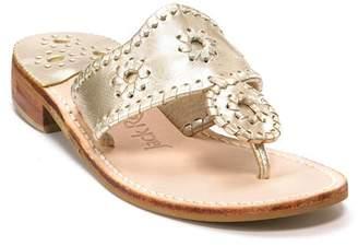 Jack Rogers Hamptons Metallic Thong Sandals
