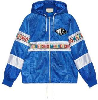 """Gucci Net jacket with """"Magnetismo"""" stripe"""
