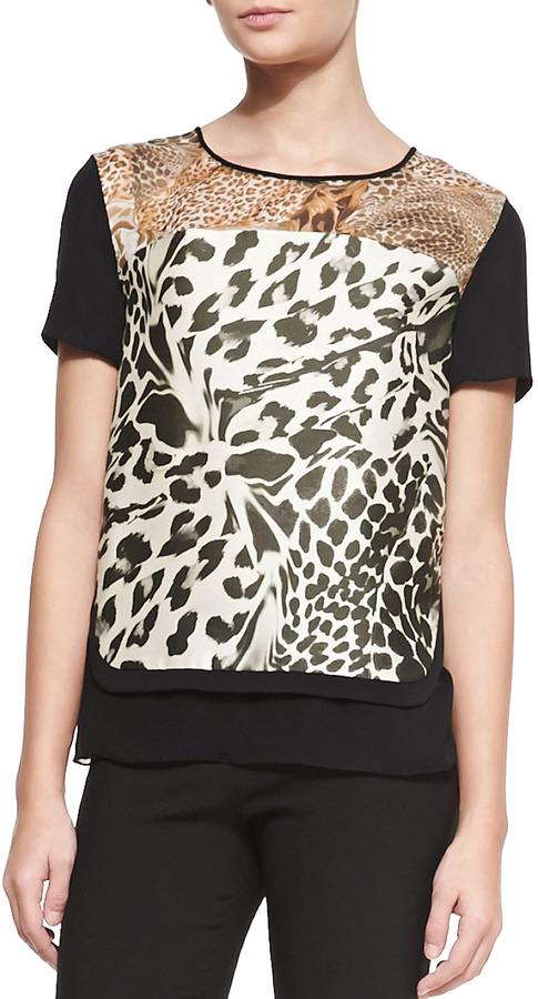 Diane von Furstenberg Becky Printed Short-Sleeve Top