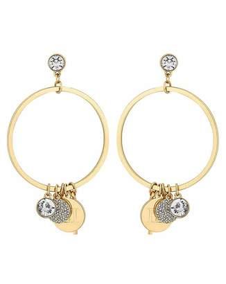 Lipsy Gold Charm Hoop Earring