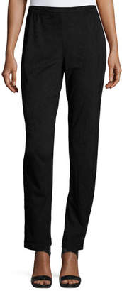Caroline Rose Sueded Skinny Pants, Black