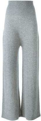 Agnona cashmere wide-leg trousers