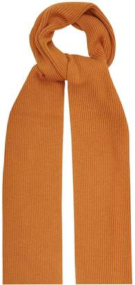 Reiss RANDOLF RIBBED KNITTED SCARF Butternut