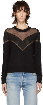 Rag & Bone Black Blaze Crewneck Sweater