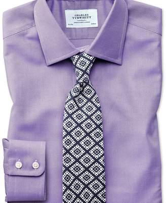 Charles Tyrwhitt Extra slim fit Egyptian cotton royal Oxford lilac shirt