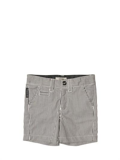 Armani Junior Sateen Cotton Bermuda Shorts