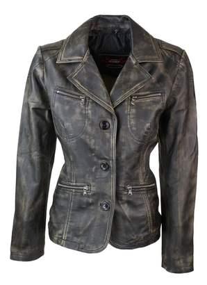 Trendz/&ideas Zipper Womens Fur Hooded Long Coat Leather Jacket