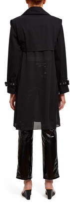 Opening Ceremony Georgette Combo Trench Coat