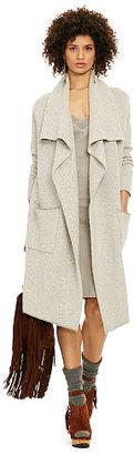 Polo Ralph Lauren Wool-Cashmere Draped Cardigan $498 thestylecure.com