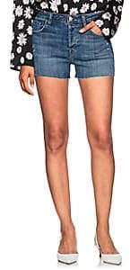 J Brand Women's Gracie High-Rise Denim Shorts - Md. Blue