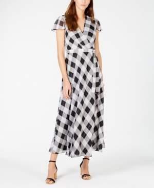 INC International Concepts I.n.c. Printed Faux-Wrap Midi Dress, Created for Macy's