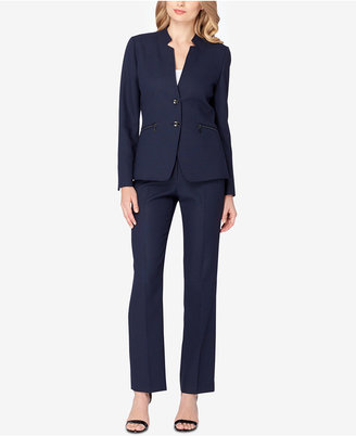 Tahari ASL Printed Two-Button Pantsuit $290 thestylecure.com