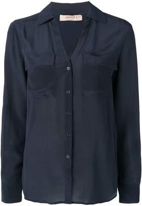 Twin-Set patch pocket shirt