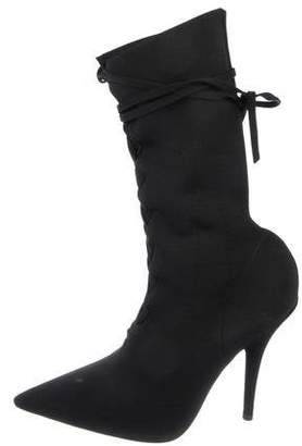 Yeezy Pointed-Toe Mid-Calf Boots