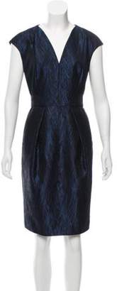 Carmen Marc Valvo Printed Sheath Dress Black Printed Sheath Dress