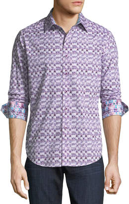 Robert Graham Classic-Fit Cobre Ikat-Print Sport Shirt